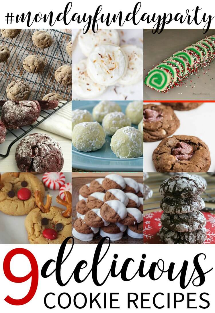 9 delicious cookie recipes from Monday Funday Link Party on www.thatswhatchesaid.com