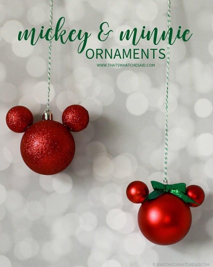 How to Make Mickey & Minnie Ornaments