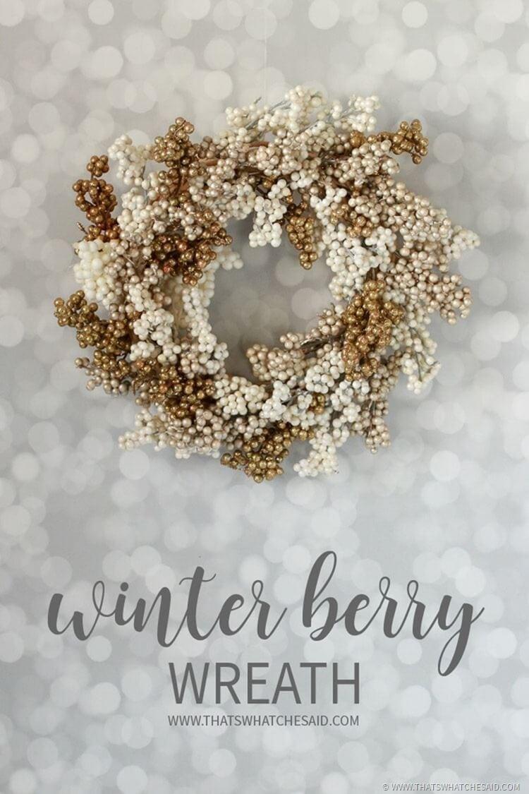 Winter Wreath - Cream & Gold Berry Wreath