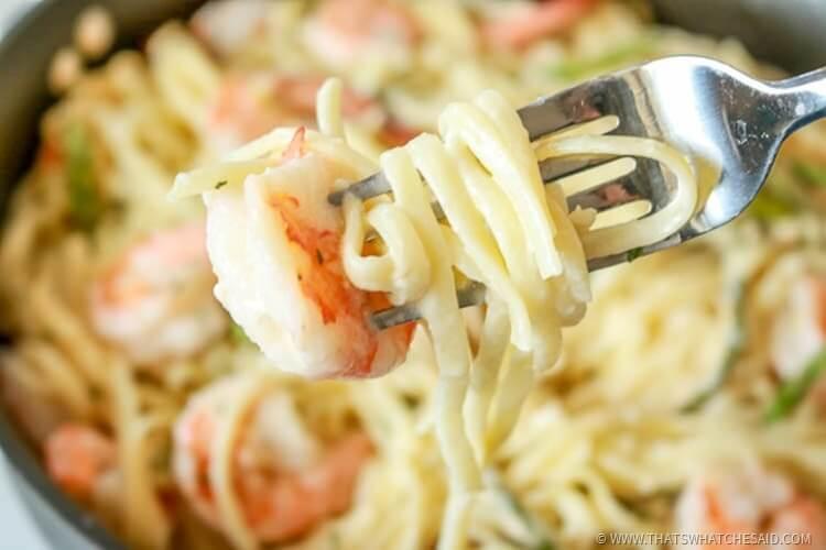 Easy Shrimp Pasta in Garlic Butter Wine Sauce