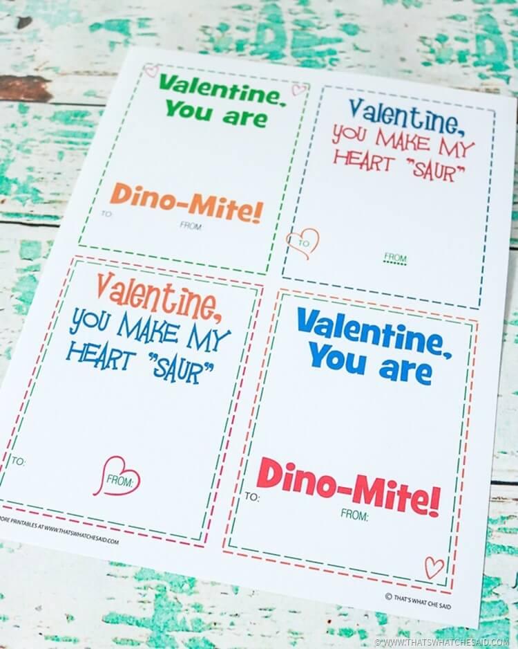 Non Candy Valentine Idea Free Printable