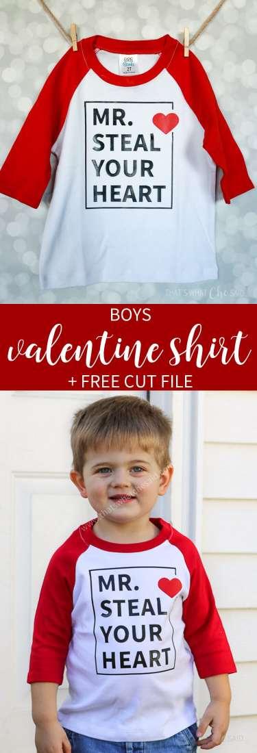 Valentine Shirt for Boys