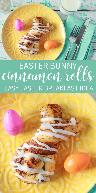 Easy Easter Breafkast Idea - Easter Bunny Cinnamon Rolls