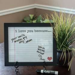 Love Notes Dry Erase Frame Insert