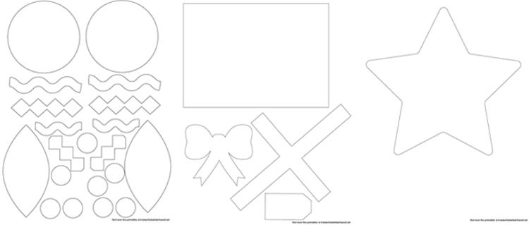 Printable Felt Christmas Tree Patterns
