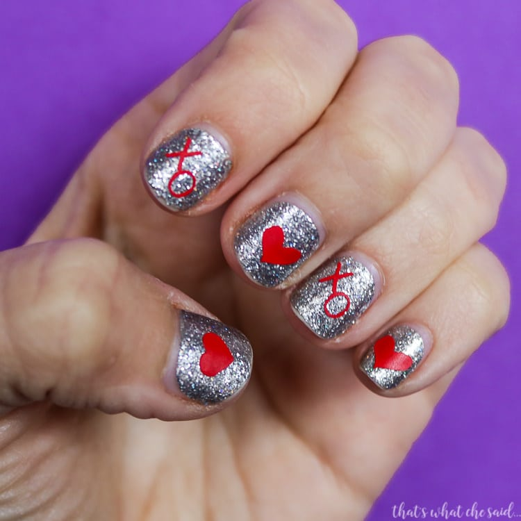 DIY Valentine Nail Decals with Free Cut Files