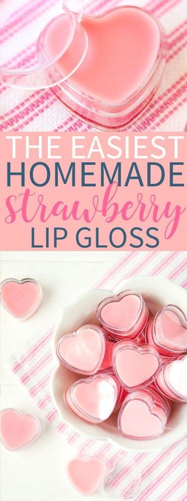 Easiest Homemade Strawberry Lip Gloss