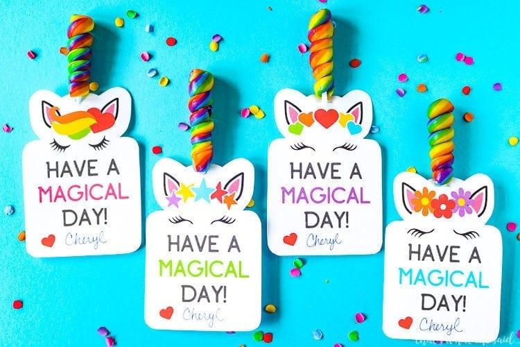 Unicorn Printable Valentine Cards Download