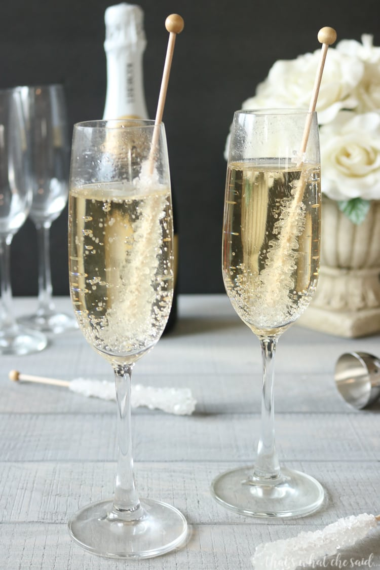 Fun Champagne Drinks - Vanilla