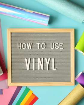 How to Apply Craft Vinyl