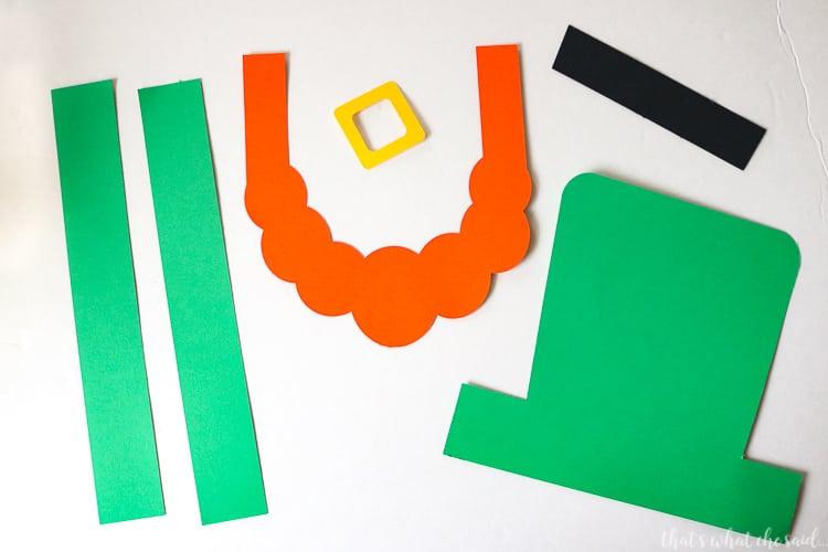 Paper Leprechaun Hat Pieces