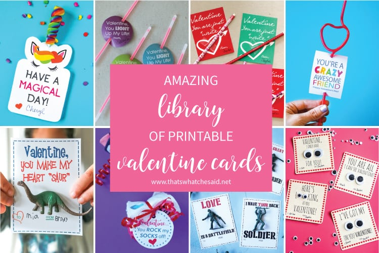 Collection of Printable Valentine Cards