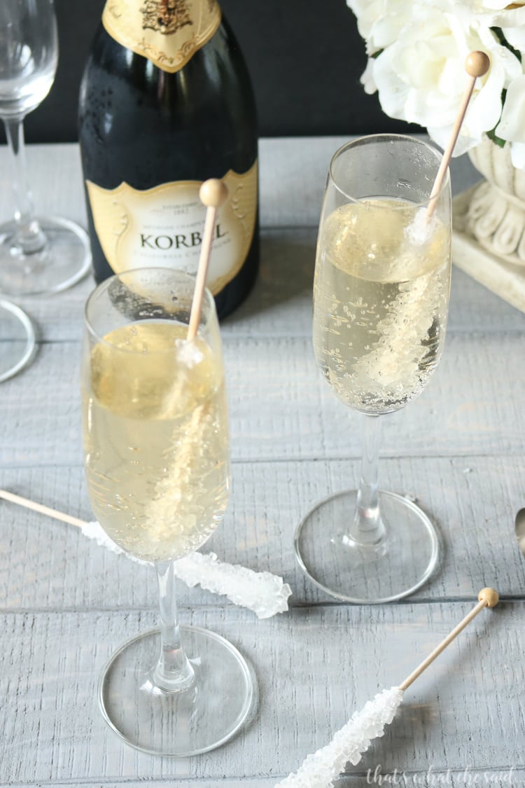 Vanilla Champagne - New Year's Eve Cocktail Idea