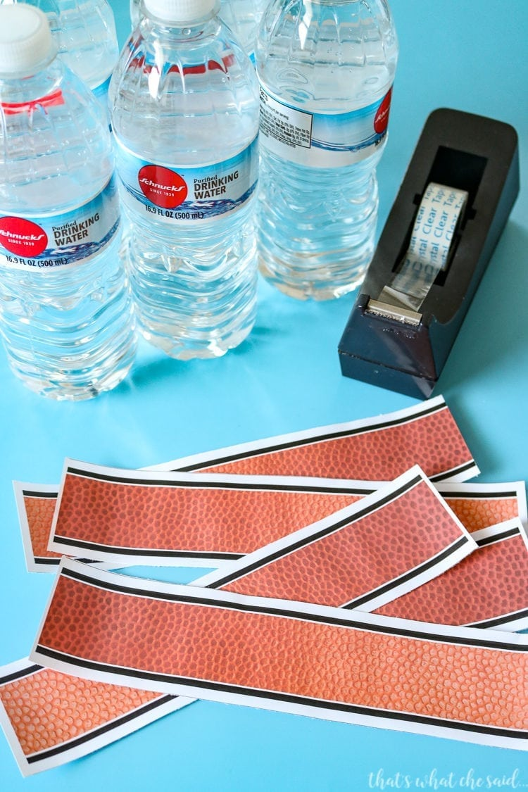 DIY Personalized Water Bottle Labels