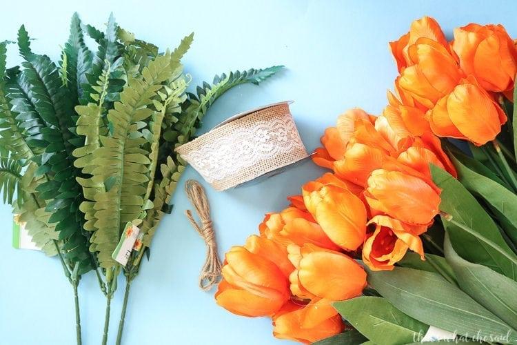 Carrot Easter Wreath Supplies