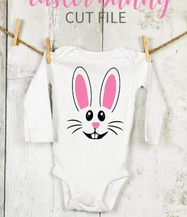 Easter Bunny Cut File use for an Easter Baby Onesie