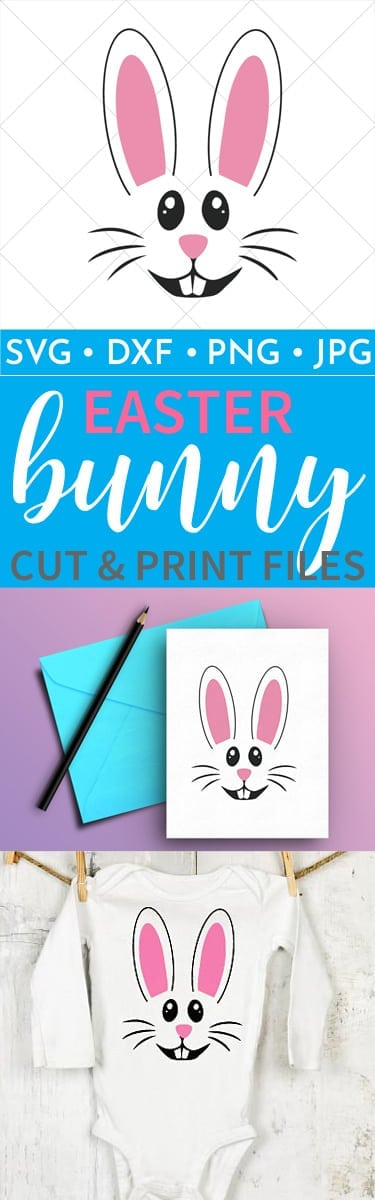 Whether you want to cut this Easter Bunny face and put him on a shirt or you want to print him out and hang him on your wall I have you covered with these cut and print files! Grab yours today!