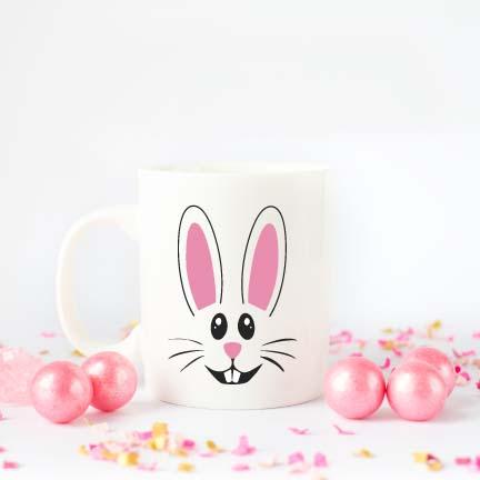 DIY Easter Bunny Coffee Mug