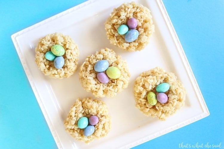 Nest Egg Easter Rice Crispy Treats