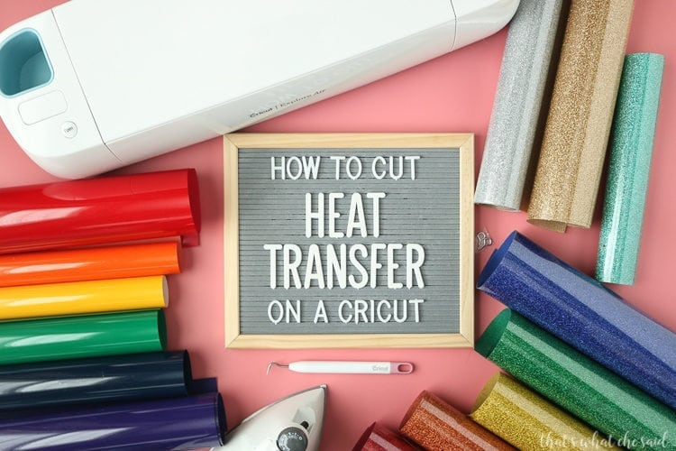 Easy step by step tutorial and video showing how to cut heat transfer vinyl on cricut design space for your cricut machine