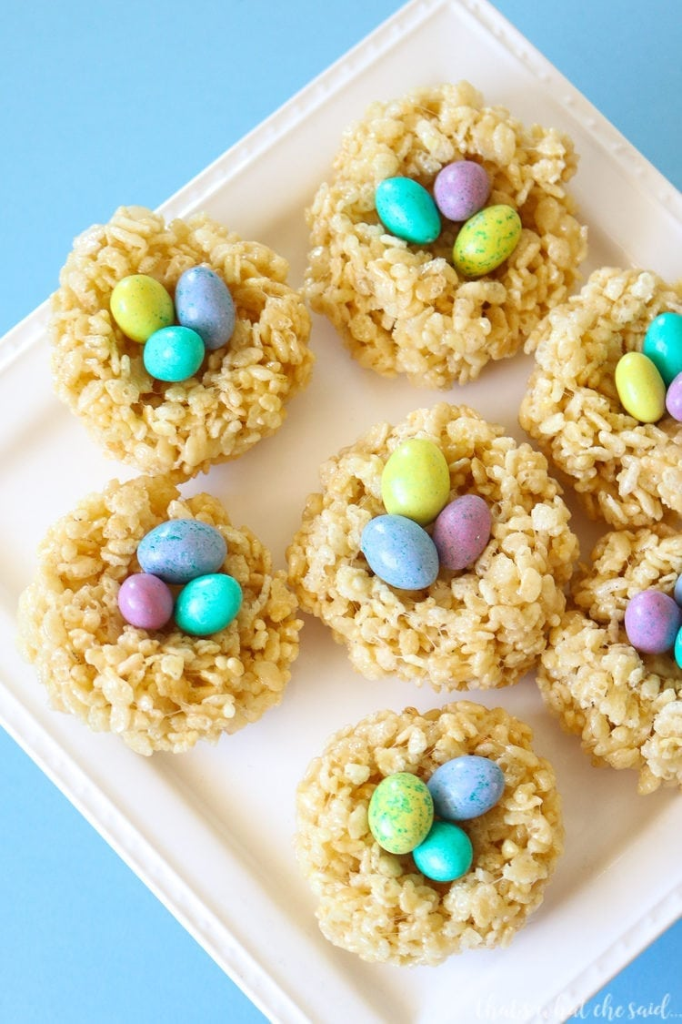 How to Make Easter Rice Krispie Treats - Easily with my awesome trick!
