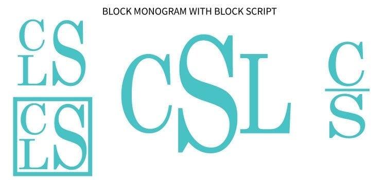 Examples of Block monograms
