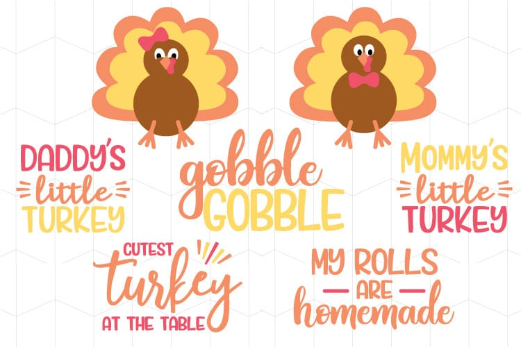 DIY Thanksgiving Baby Bodysuit + Turkey SVG Files - That's ...