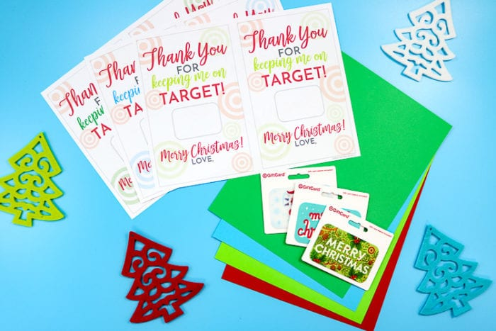 Target Gift Card Printable Supplies
