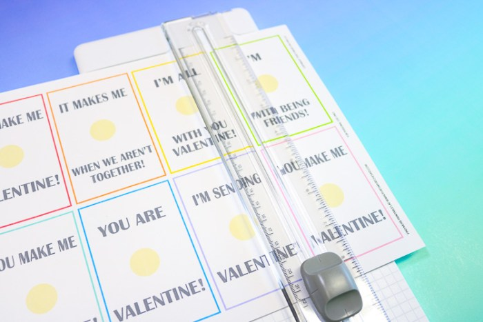 Cutting Cardstock Valentine Cards on a Rotary Paper Cutter