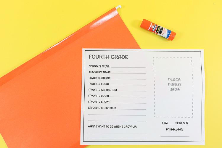 printable, folder and glue stick