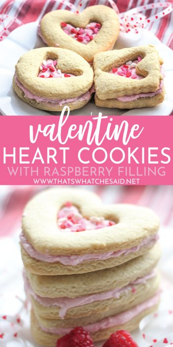 Easy and delicious shortbread cookies sandwiched around fresh raspberry filling!