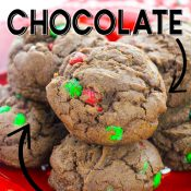 Close up of cookies with description written in text for a Pinterest Pin