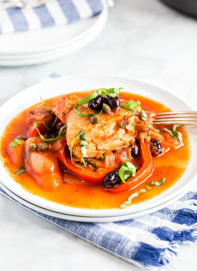 chicken-cacciatore-italian-stew in a bowl