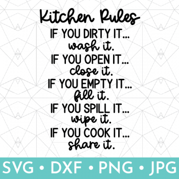 Vector rendition of Kitchen Rules SVG file