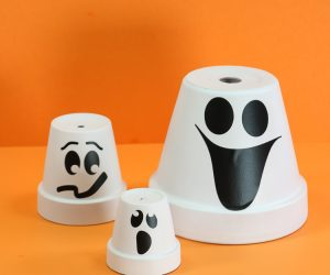 Clay Pot Ghost Faces