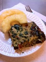 Spinach and Spaghetti Squash Quiche