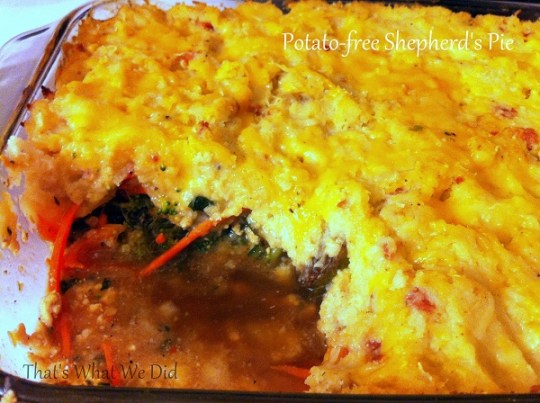 Potato-Free Shepherd's Pie cooked
