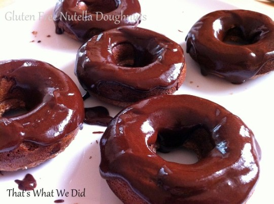 nutella doughnuts iced