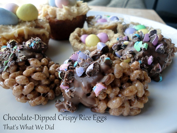 easter crispy rice eggs