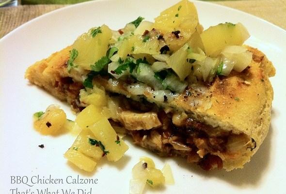 Grilled Gluten Free BBQ Chicken Calzone