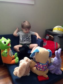 jenson and stuffed animals