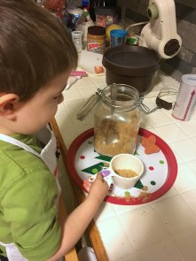 peanut butter cookies, baking with jenson