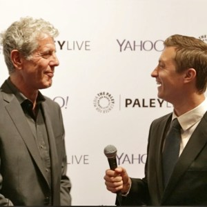 Tom Hatton With Anthony Bourdain in NY