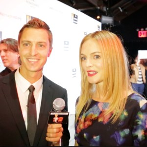 Tom Hatton with Heather Graham, NY