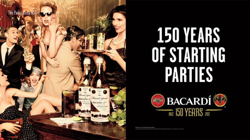 Tom Hatton Voice Over for Bacardi 150 years anniversary