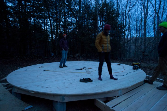 finished yurt platform!