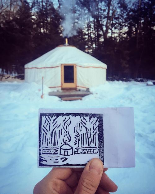 yurt living in winter