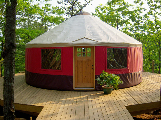 A 24' yurt from Blue Ridge Yurts in Virginia.