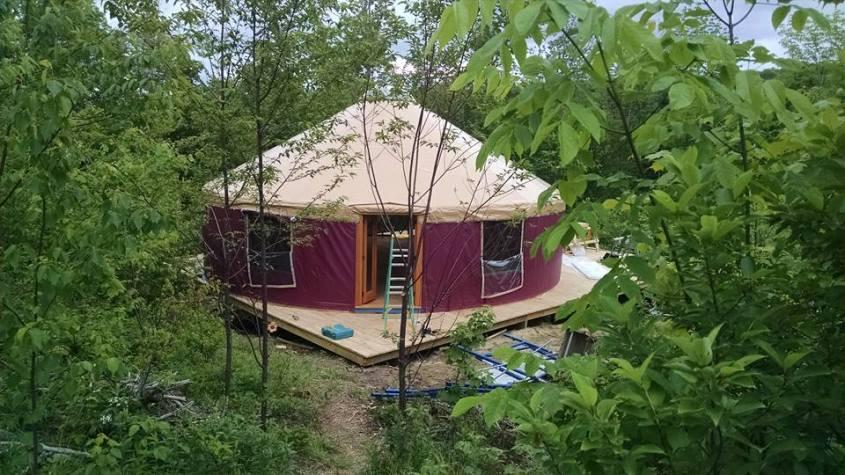 A 30' yurt from White Mountain Yurts.