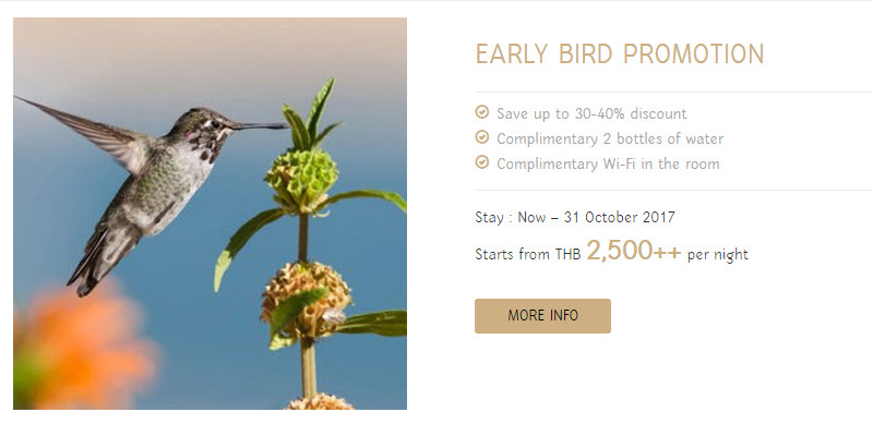 Early bird promotion-thavorn palm beach resort